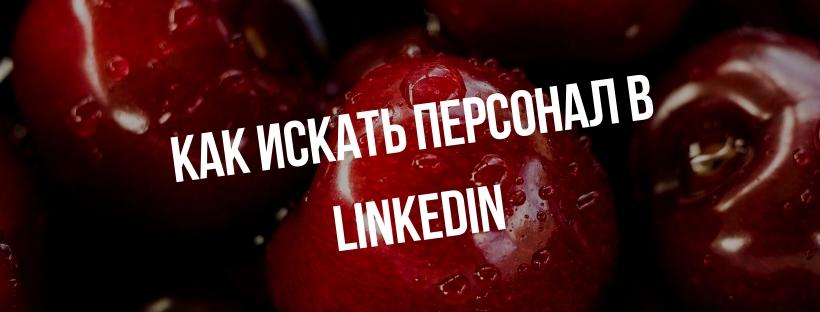 фото как искать персонала в LinkedIn