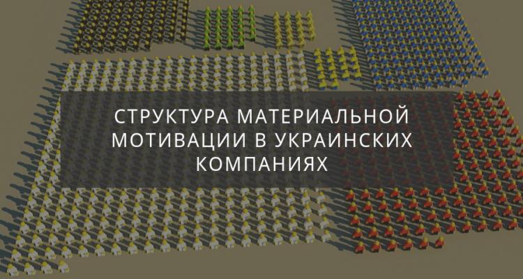 Структура мотивации в украинских компаниях